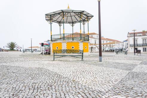 Pavilion in a square in Nazare, Portugal - FVSF00269
