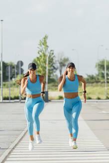 Madrid Spain, Girls doing sports. - OCMF01277