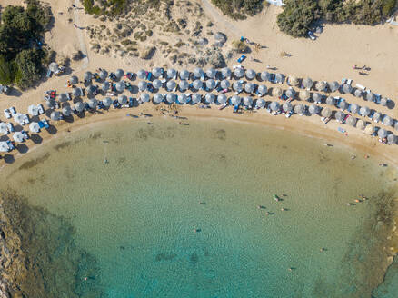 Beach in the Aegean sea from above, Greece - CAVF83258