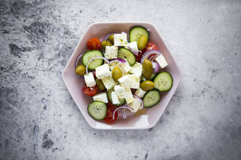 Bowl of ready-to-eat Greek salad - GIOF08369