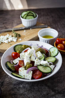 Bowl of ready-to-eat Greek salad - GIOF08375