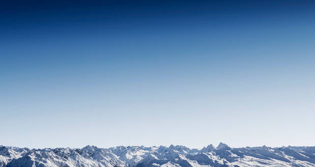Scenic View Of Mountains Against Clear Blue Sky - EYF06304