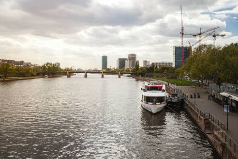 Germany, Frankfurt, Cityscape with Main river - FLMF00257