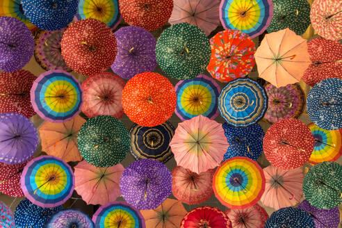 Full Frame Image Of Multi Colored Umbrellas - EYF09189