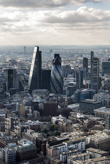 Aerial view of the Square Mile, the City of London financial centre, with architectural landmarks. - CUF55526