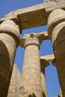 Columns, Great Hypostyle Hall, Karnak Temple Complex, UNESCO World Heritage Site, Luxor, Thebes, Egypt, North Africa, Africa - RHPLF17185