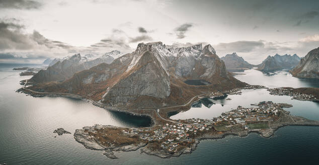 Panoramic view of the mountains and islands around lofoten - CAVF88006