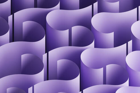Abstract background with a pattern made of purple question marks, 3D Illustration - DRBF00181
