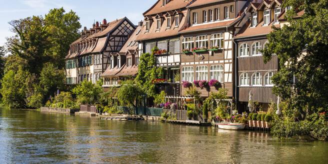 Deutschland, Bayern, Franken, Bamberg, Altstadt, Regnitz, Klein Venedig, ehemalige Fischerhäuser - WDF06146
