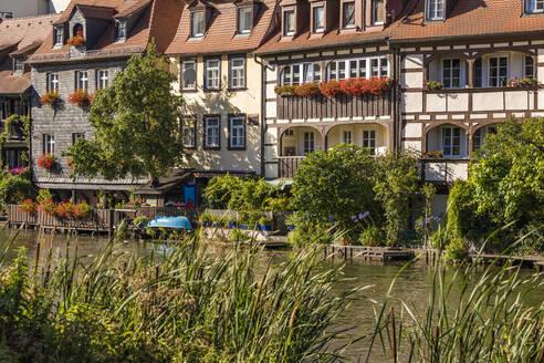Deutschland, Bayern, Franken, Bamberg, Altstadt, Regnitz, Klein Venedig, ehemalige Fischerhäuser - WDF06149