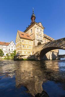 Deutschland, Bayern, Franken, Bamberg, Altstadt, Regnitz, Obere Brücke, Altes Rathaus - WDF06164