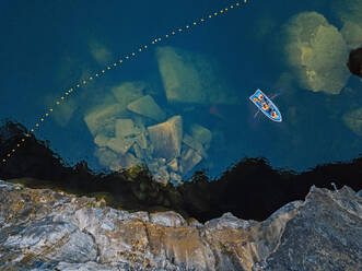 Boat at Marble quarry, Ruskeala mountain park, Sortavala, Republic of Karelia, Russian Federation - KNTF05183