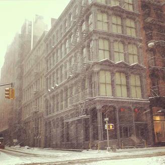 Snow covered a Soho street - CAVF88351