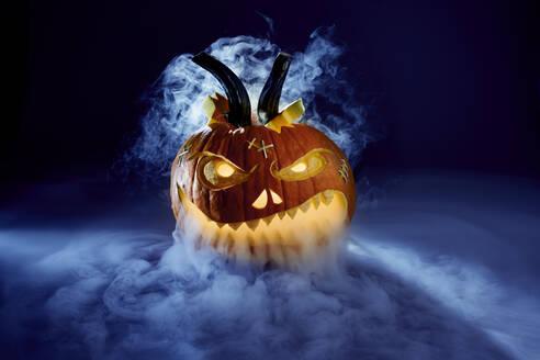 Studio shot of spookyjack-o-lantern - SRSF00669