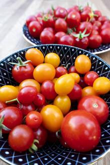 Bowl of fresh ripe tomatoes - NDF01128
