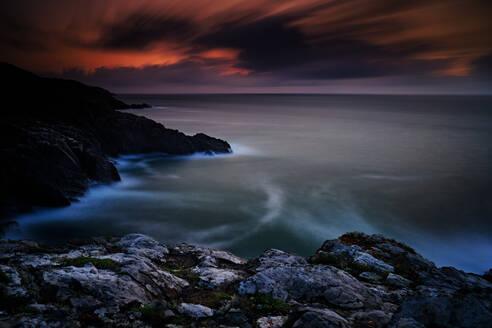 Sunset, Long Exposure, With Headland - CAVF88959