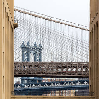 USA, New York, New York City, Manhattan Bridge - AHF00084