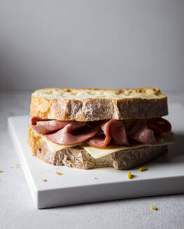 Ready-to-eat sandwich with mortadella and cheese - FLMF00292