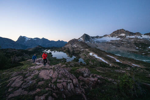 Exploring Limestone Lakes in the Canadian Rockies by Headlamp - CAVF90112