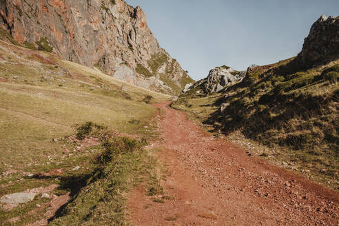 Dirt road of mountain at Somiedo Natural Park, Spain - DMGF00250
