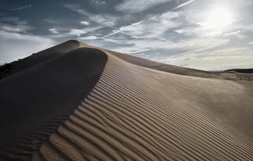 Sunset view of Cadiz Dunes at Mojave Desert, Southern California, USA - BCDF00477