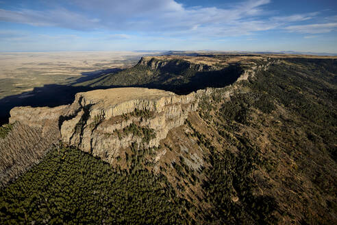 USA, Colorado, Aerial view of Fishers Peak in Rocky Mountains - BCDF00511