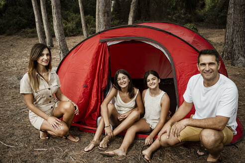 Family time in tent during vacation - RCPF00327