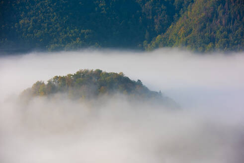Cloudscape over mountain at Danube Valley, Beuron, Germany - FDF00328