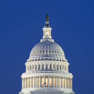 USA, Washington DC, Dome of United States Capitol at dusk - AHF00249
