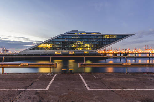 Germany, Hamburg, Dockland at blue hour - KEBF01778