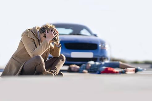 Madrid Spain. Child car accident - GGGF00851