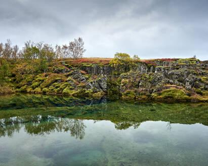 Calm lake near rough coast - CAVF92103