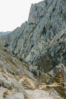 Cares Trail on rock mountain at Picos De Europe National Park, Asturias, Spain - DMGF00435