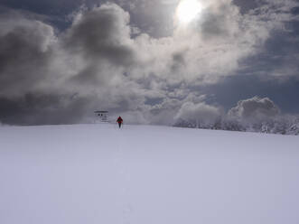 Deutschland, Schwarzwald, Gipfel mit Kandelpyramide, Winter , Spaziergang - LAF02683
