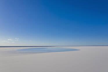 Australia, South Australia, Aerial view of salt lake in Lake Hart Area - FOF12108