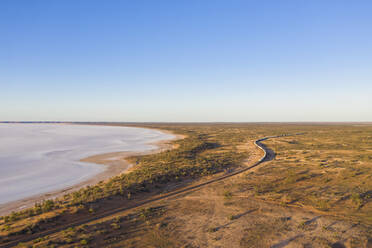 Australia, South Australia, Aerial view of salt lake in Lake Hart Area - FOF12111