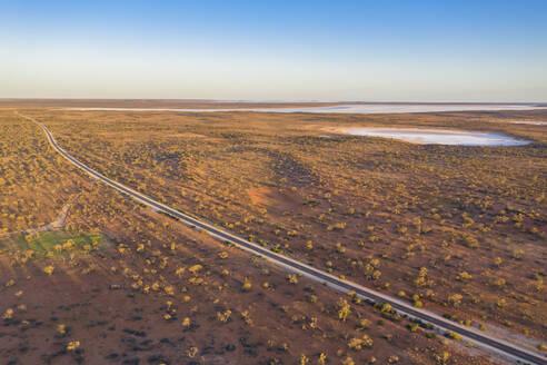 Australia, South Australia, Aerial view of Stuart Highway in Lake Hart Area - FOF12114