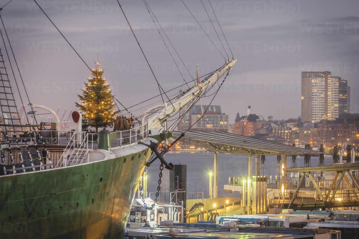 Deutschland, Hamburg, Weihnachtsbaum auf Museumsschiff - KEBF01793 - Kerstin Bittner/Westend61