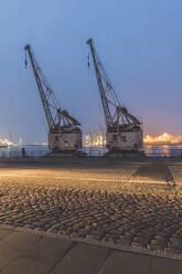 Deutschland,Hamburg, Altona, alte Hafenkräne - KEBF01820