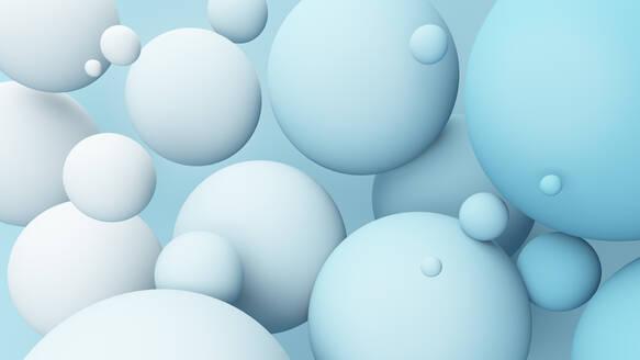Blue spheres background - JPSF00062