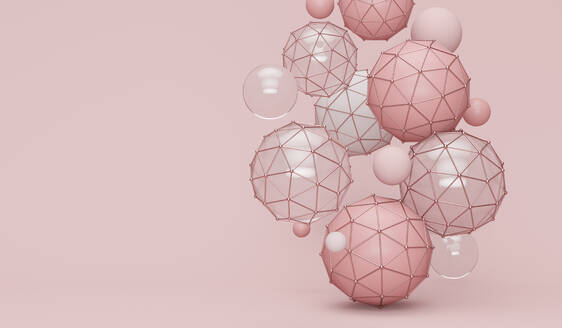 Abstract pink shapes background - JPSF00068