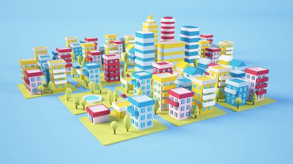Cartoon city 3d rendering - JPSF00071