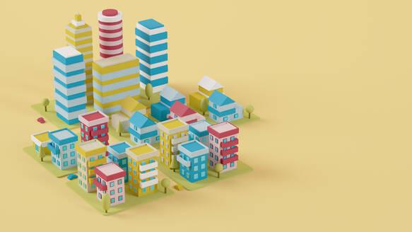 Colorful city 3d - JPSF00089